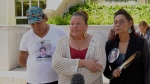 Rocky Genereaux's family outside Saskatoon's Court of Queen's Bench. (Chad Hills/CTV News)