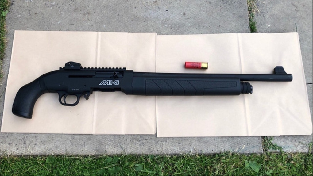12-gauge semi-automatic shotgun