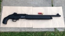 This 12-gauge semi-automatic shotgun was recovered at the scene of Friday's officer-involved shooting in northeast Edmonton. Sept. 21, 2020. (ASIRT)