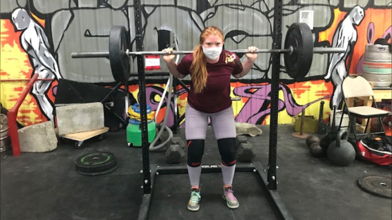 Bailey Deschene had had to get creative to maintain training during the pandemic.