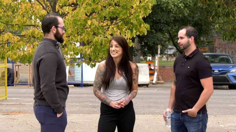 Inner Man Project founders Dylan Eckes, left, Melissa Eckes and Shayne Cockerill.
