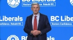 BC Liberal Party leader Andrew Wilkinson is seen on Sept. 21, 2020.