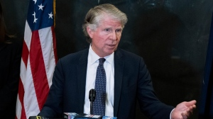 FILE - In this Monday, Feb. 24, 2020, file photo, Manhattan District Attorney Cyrus Vance Jr., speaks at a news conference in New York. (AP Photo/Craig Ruttle, File)