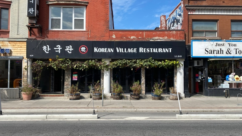 Korean Village Restaurant in Toronto is seen in this photograph taken on Sept. 21, 2020. (Scott Lightfoot/CTV News Toronto)
