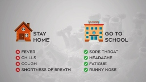 New guidelines for students feeling ill