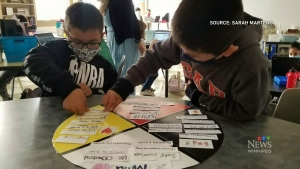 Teacher uses medicine wheel to focus on well being