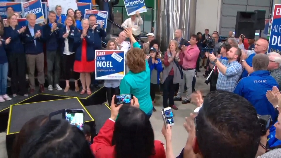 Christy Clark campaigning