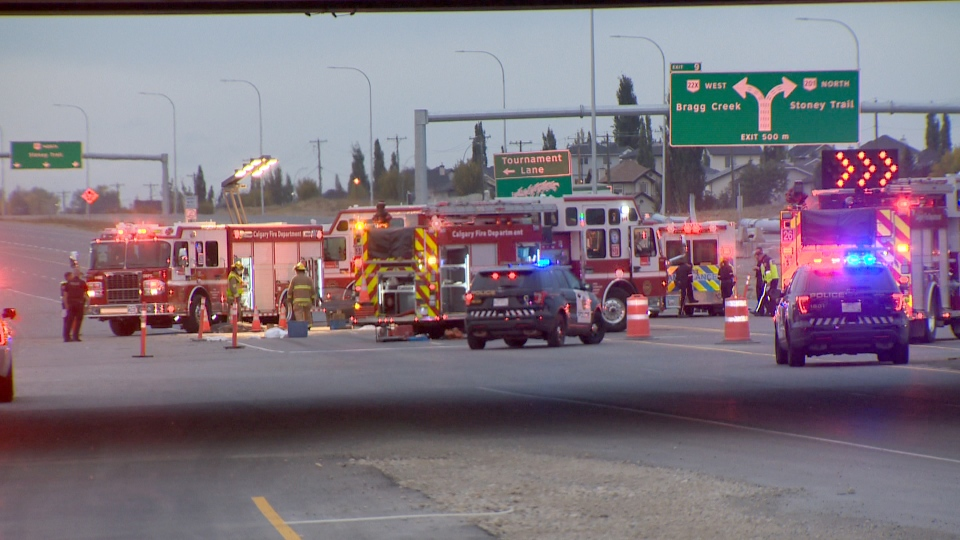 Two seniors were killed and two other people sent to hospital in a crash on Highway 22X near James McKevitt Road S.W.
