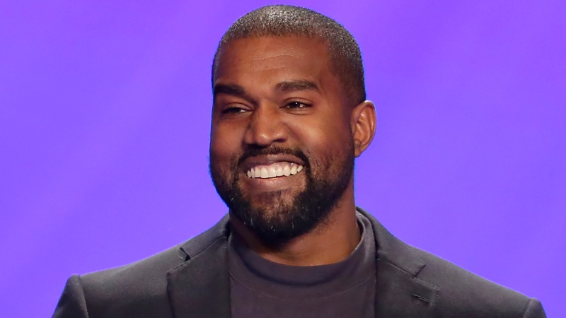 In this Nov. 17, 2019, file photo, Ye appears on stage during a service at Lakewood Church in Houston. (AP Photo/Michael Wyke, File)