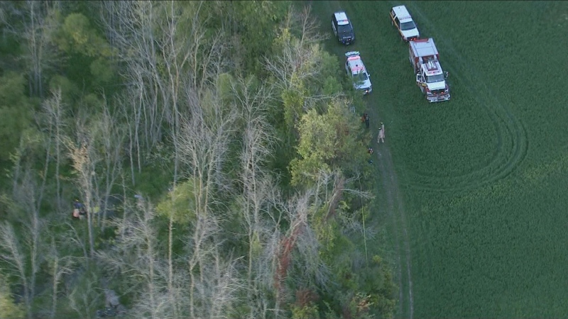 Police say a 14-year-old girl has died after she became trapped in a marshy bog outside of Hamilton.