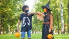 Door-to-door trick-or-treating and costume masks and parties are discouraged this year due to the pandemic, the CDC said. (Shutterstock)