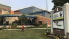 Students return to H.B. Beal Secondary School in London, Ont. on Tuesday, Sept. 22, 2020 after its first positive case. (Sean Irvine / CTV News)