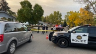 CPS members in the southeast neighbourhood of Lynnwood following a fatal stabbing on Sept. 22, 2020