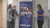 Timmins Alzheimer's Society award local caregiver. Sept. 21/20 (Lydia Chubak/CTV Northern Ontario)