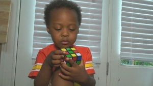 This boy finished a rubik's cube and helped inspir