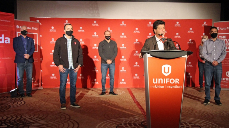 Unifor president Jerry Dias on Tuesday, Sept. 22, 2020. (Source: Unifor/ Twitter)