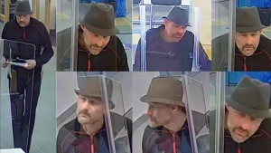 RCMP have released surveillance images of a man who allegedly withdrew more than $26,000 from a victim's account using an ill-gotten debit card (supplied)