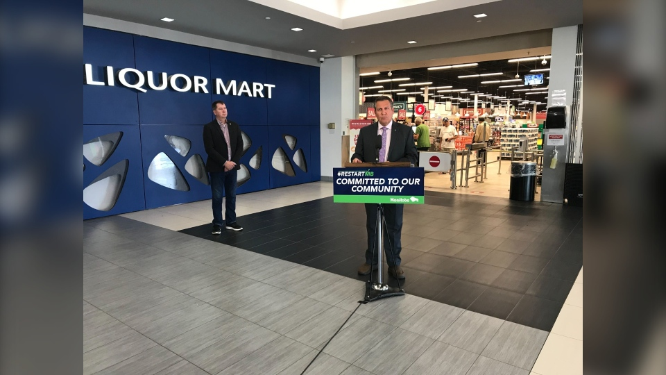 Justice Minister Cliff Cullen announces the Retail Crime Task Force at Grant Park Shopping Centre (CTV News Photo Josh Crabb)