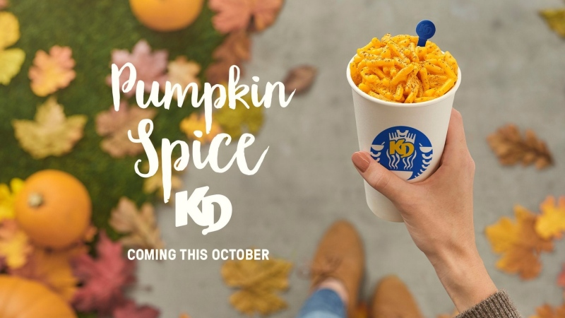 Kraft has announced that it's going to start selling a pumpkin spice version of its Kraft Dinner macaroni and cheese. (Courtesy CNW Group/Kraft Heinz Canada)