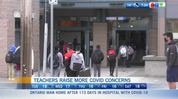 Teachers raise COVID concerns