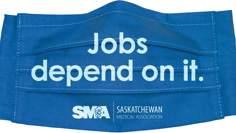 The Saskatchewan Medical Association is urging people to wear masks in a new campaign. (Facebook)