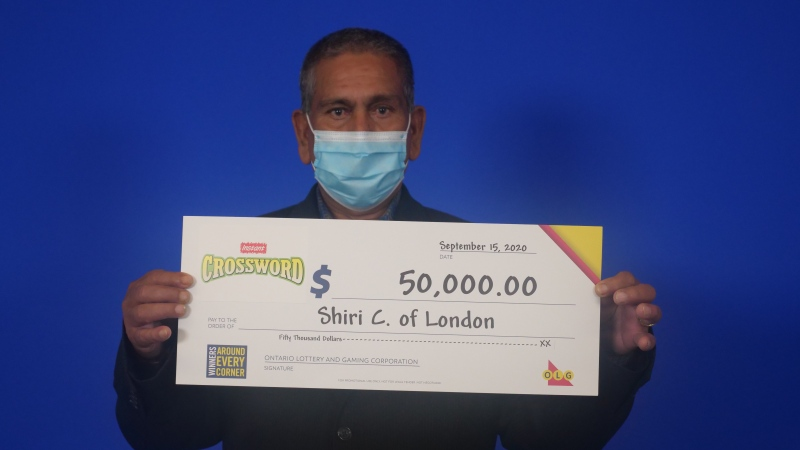 $50,000 Instant Crossword winner Shiri Chand of London, Ont. (OLG)