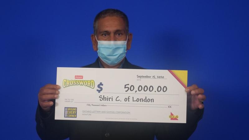 $50,000 Instant Crossword winner Shiri Chand of London, Ont. (OLG)