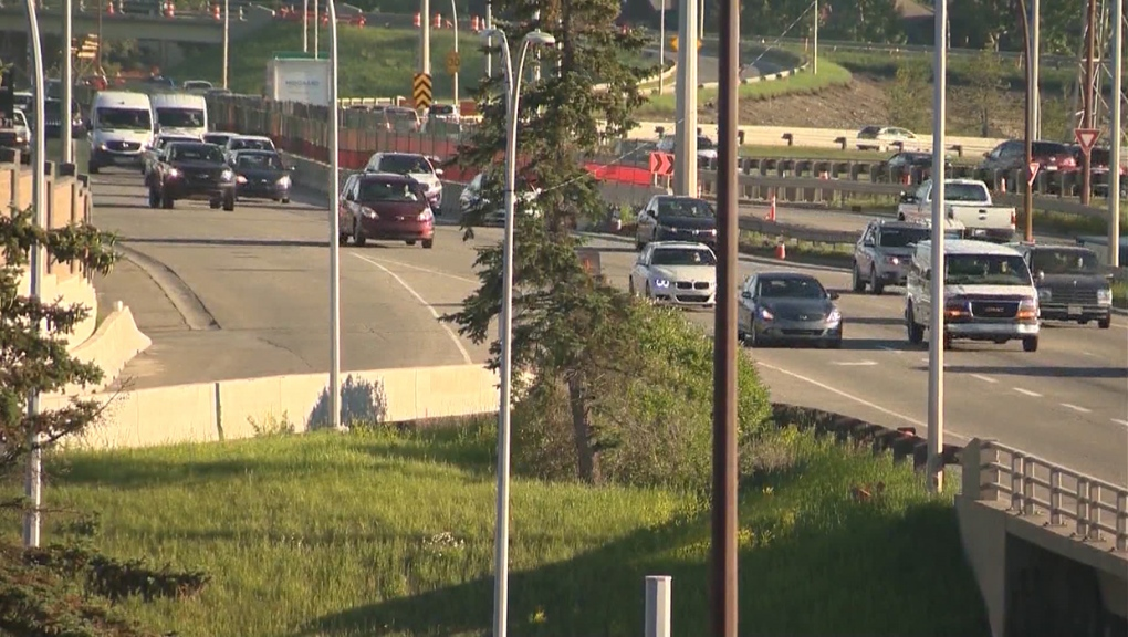 Crowchild Trail, construction, completed