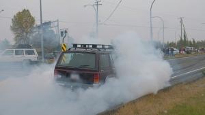 "A vehicle ""stunting"" in Nanaimo is shown: (Nanaimo RCMP)"