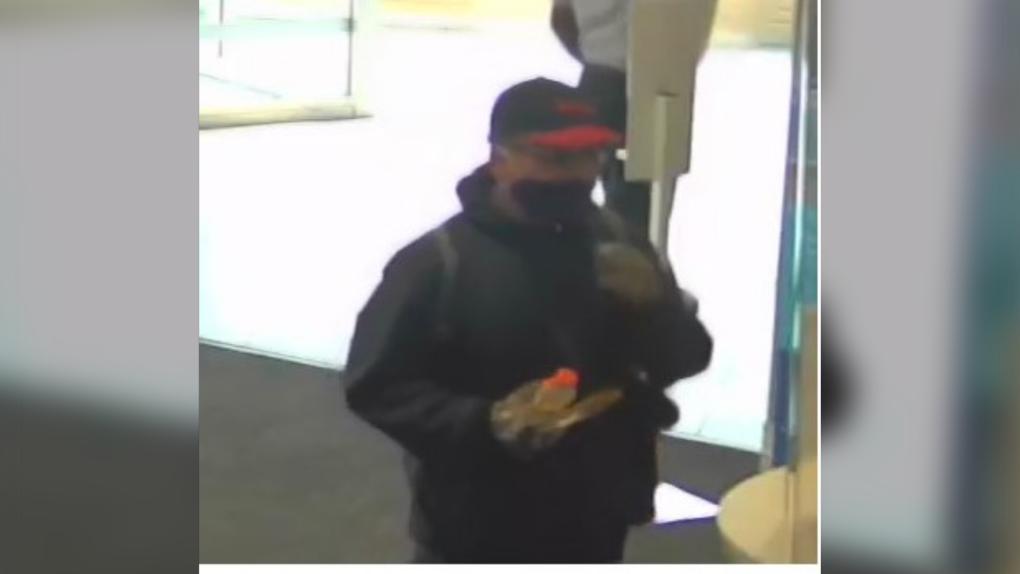 Robbery suspect surveillance image