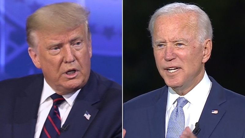 U.S. President Donald Trump and Democratic nominee Joe Biden are shown in this composite photo. (CNN/ABC)