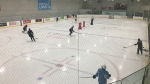 London area OHL players practice at Western Fair District Sep 22, 2020. (Brent Lale/CTV London)