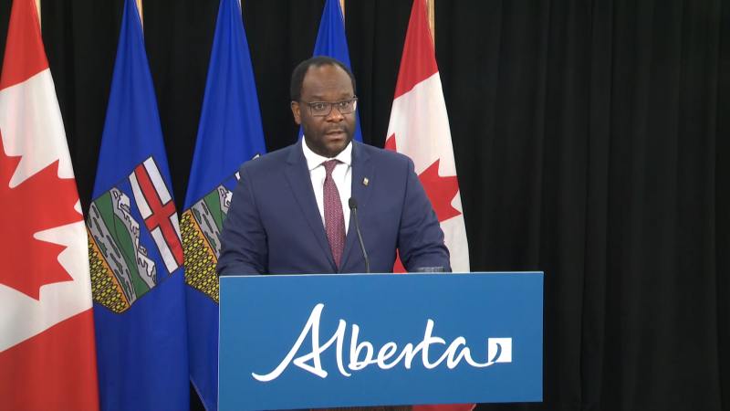 Justice Minister Kaycee Madu called reports of violence at an anti-racism rally in Red Deer on Sept. 20, 2020, disturbing.