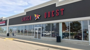 Kitchener's Laser Quest will stay closed due to the COVID-19 pandemic (Dan Lauckner / CTV News Kitchener)