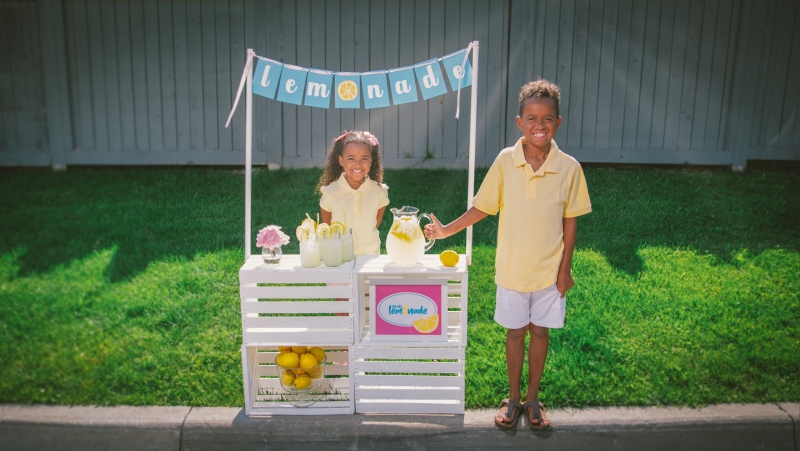 Maxim and Maya Mounter created a virtual lemonade stand to raise money for Canadian food banks.