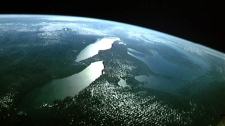 All the Great Lakes and Ontario's rivers are visible in this image from the space shuttle Discovery during STS-64 mission. A new report says Canada's rivers are at risk and some are even close to drying up because of climate change and growing demand for water.