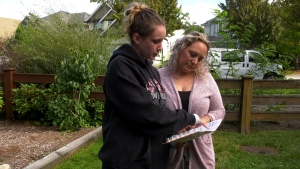 Tavia Marlatt and her mother, Renee, are seen on Sept. 22, 2020.