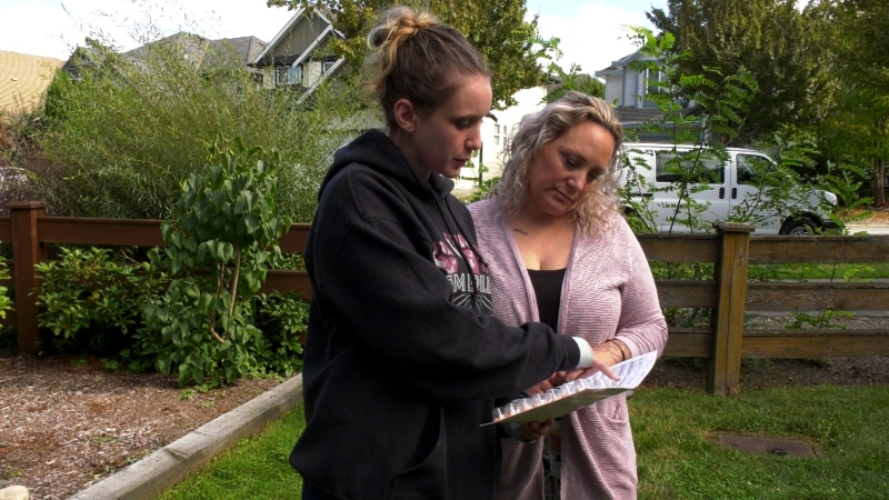Tavia Marlatt and her mother, Renee, are seen on Sept. 22, 2020.