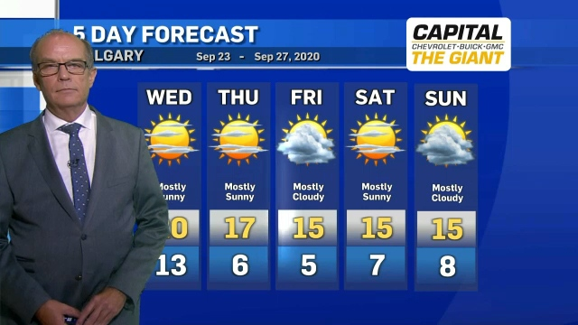 Calgary weather Sept. 22, 2020