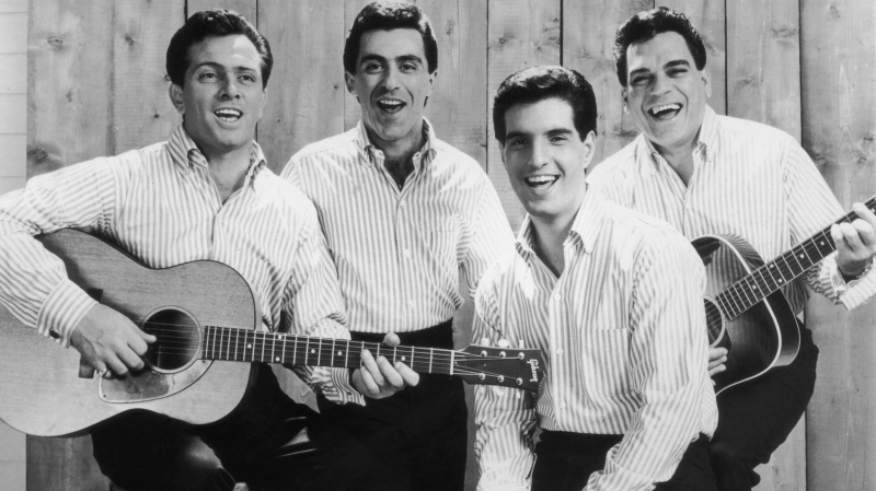 This promotional portrait of the The Four Seasons in 1965 shows, from left, Tommy DeVito, Frankie Valli, Bob Gaudio and Nick Massi. (Hulton Archive/Getty Images)