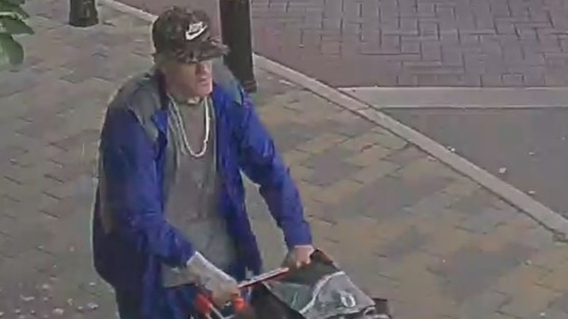 Investigators are looking for a white man described as between 30 and 40 years old, standing approximately 6' tall with a slim-to-medium build. (VicPD)