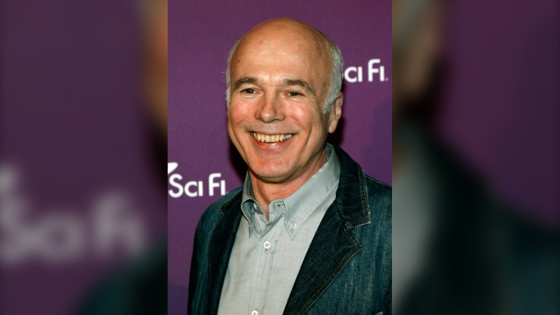 """Battlestar Galactica"" cast member Michael Hogan arrives to the Sci Fi Channel's 2008 Upfront party in New York, Tuesday, March 18, 2008. A crowdfunding campaign has raised more than $150,000 for ""Battlestar Galactica"" star Hogan to help cover the Vancouver actor's medical expenses after suffering a ""life-changing"" brain injury. THE CANADIAN PRESS/AP /Stuart Ramson"