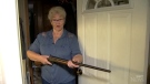 A grandma from Spanaway, Wash., took matters in her own hands when she spotted an intruder, holding him a gunpoint until police arrived.