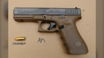 Edmonton police say they traced a handgun, found a carjacking scene, whose serial number had been defaced, back to registered owner Bradley Sawchuk. (Photo provided.)