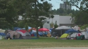 Serious assault reported at homeless camp