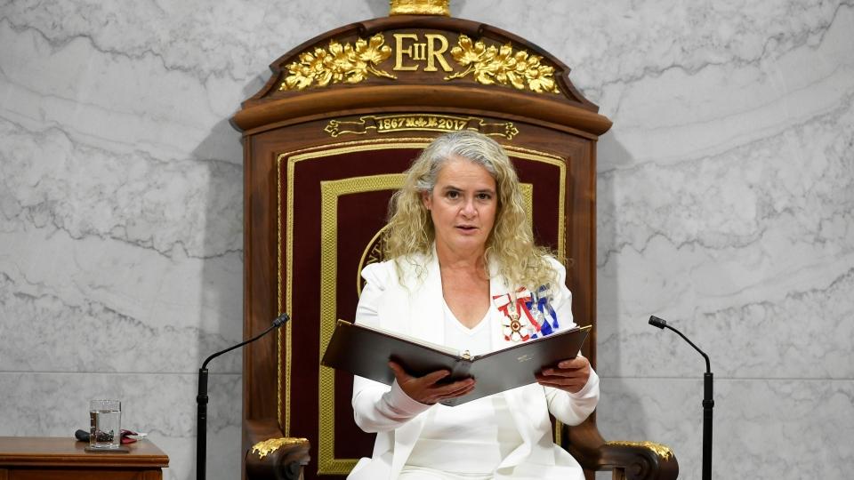 Gov. Gen. Julie Payette throne speech