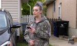 Ashley Lennie applied pressure to a stabbing victim's wounds on Sept. 21. (Francois Biber/CTV Saskatoon)