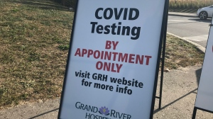 COVID-19 tests will be offered by appointment only starting Sept. 24 at Kitchener's drive-thru testing site (Dan Lauckner / CTV News Kitchener)