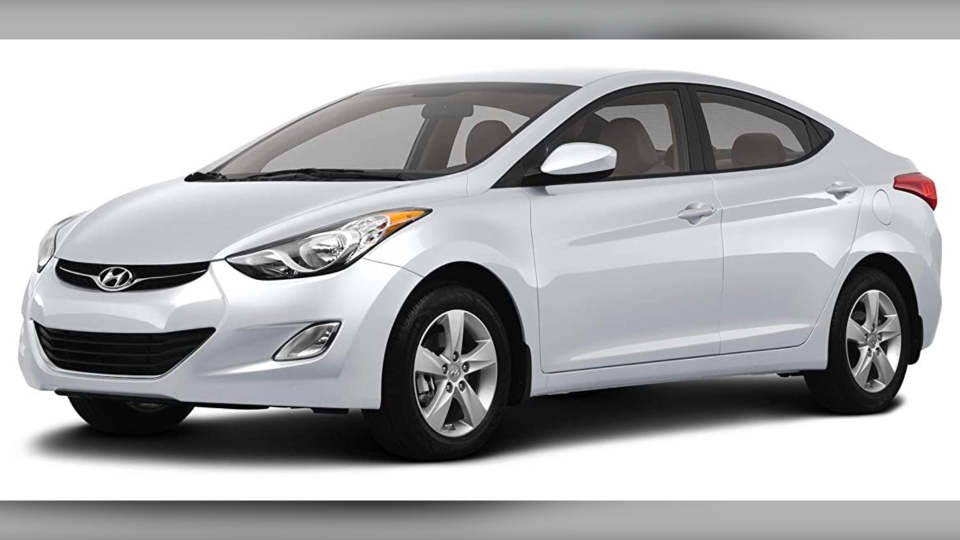 Calgary police are searching for a Hyundai Elantra, similar to this stock image. (Calgary police)