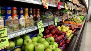 A produce aisle is seen in this file photo of a grocery store.